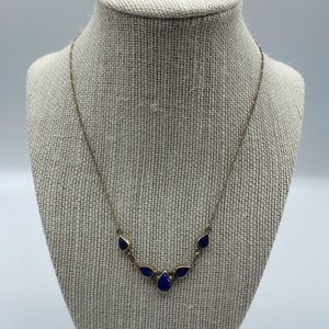 Vintage Sterling Silver Blue Lapis Necklace